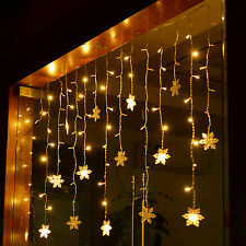 LED Icicle Star Light Five-point Star Christmas Fairy Wedding LED Hanging Décor