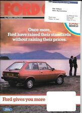 FORD FIESTA,ESCORT, CORTINA,CAPRI,GRANADA SEPTEMBER 1981 ALL MODEL SALE BROCHURE