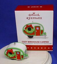 Hallmark Miniature Ornament Cozy Birdhouse Camper 2015 Bird House NIB