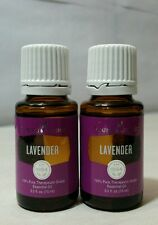 NEW Young Living LAVENDER 15ml (2 PACK) 100% PURE ESSENTIAL OIL - FREE SHIPPING!