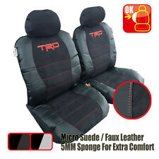 Pair Universal TRD Suede Leather Seat Cover For Toyota Aurion Sedan 2006-2016