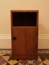 Wonderful walnut art deco bedside cabinet 1940s vintage lamp table