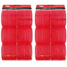 Hair Tools Super Jumbo Cling Hair Rollers Red 70mm x12 Sealed Packs