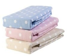 EVESHAM KINGSIZE FITTED BLUE POLKA DOT FLANNELETTE SHEET LUXURY SUPERIOR QUALITY