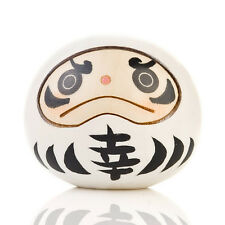 White Happiness Daruma Kokeshi Doll