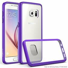 Purple Prism Protective Slim-Fit Transparent Bumper Case for Samsung Galaxy S7