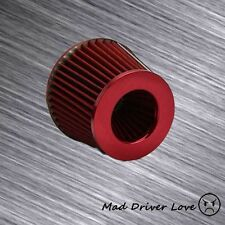 "3"" HIGH FLOW SHORT RAM COLD INLET ROUND CONE TURBO AIR FILTER RED W/2.5"" REDUCER"