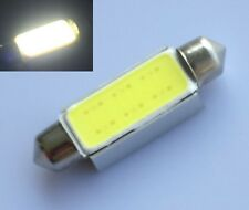 2x 42mm C10W WHITE Festoon CAN BUS PLASMA COB LED SIZE interior SMD bulbs 12V