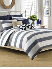 NAUTICA LAWNDALE NAVY 3PC SET, 1 KING DUVET COVER & 2 KING SHAMS