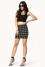 Forever 21 Plus Cross Print Bodycon Skirt SMALL
