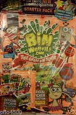 BIN WEEVILS.COM THE GREAT BIN TOUR STICKER ALBUM & 50 PACKETS OF STICKERS.