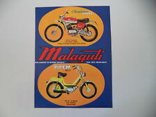 advertising Pubblicità 1973 MOTO MALAGUTI CAVALCONE CROSS 50/TOTEM RALLY 50