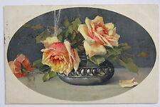15579 Künstler AK Catharina KLEIN Stilleben Strauß Rosen 1919