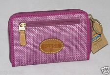 Fossil Key Per Solid SLD Zip Multi iPhone Smartphone Wallet Grape SL4128A663 NWT