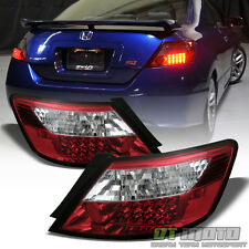 2006-2011 Honda Civic Coupe Lumileds LED Red Clear Tail Lights Lamps Left+Right