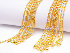 """5PCS 18"""" Jewelry 18K Yellow Gold Filled """"FOX TAIL"""" Necklaces Chain Lobster Clasp"""