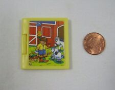 "FISHER PRICE Loving Family Dollhouse YELLOW FARM BOOK Opens! for 4-6"" Dolls Rare"