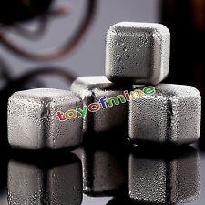 Acero Inoxidable Whiskey Piedras Cubitos De Hielo Bebidas enfriadores - 4 Pack