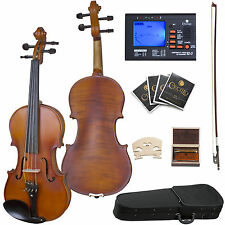 "15"" CECILIO CVA-500 VIOLA EBONY FITTED SOLIDWOOD+CASE"