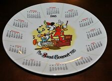 RARE 1985 CALENDAR PLATE MICKEY MOUSE DONALD DUCK THE BAND CONCERT 50TH ANNIV.