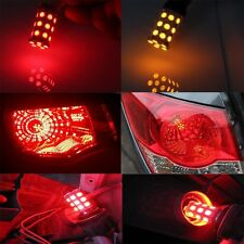 2pcs 1157 BAY15D P21 5W 27 SMD 5050 Car 12V LED Tail Brake Rear Light Lamp Red