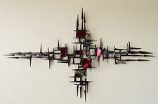 Rare Modern Abstract Mid Century Wall Sculpture Signed by Corey Ellis C Jere