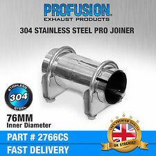 76mm Stainless Steel Clamp on Exhaust pipe joiner connector sleeve tube repair