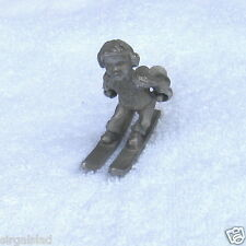 Vintage Rawcliffe Pewter by artist P. Davis ® 1975 – Snow Skier with Poles