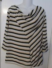 ELLEN TRACY WOMAN 3/4 SL STRIPED SPRING TOP WITH ADDED SPARKLE! SZ 1X NWTGS