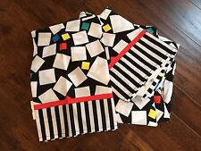 VTG 80s Punk Skater Geometric Multi Color Stripes Twin Bed Sheets XL Canon