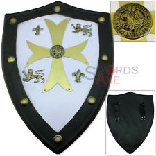 Templar Knights Foam Shield Crusader Cross SCA LARP Full Sized Replica Prop