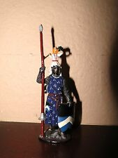 Mundiart Hand Painted Spain Miniature Metal Knight with Shield Toy Soldier