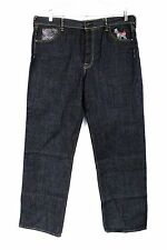 Mens Jeans Black WASH Never Worn HIP Hop Baggy SIZE 38x35