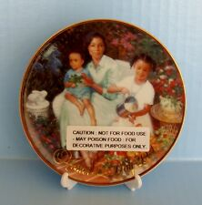 Avon 2001 Mother's Day Plate Blossoms of Love African American Allan Murray New