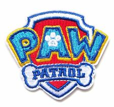 Paw Patrol Iron On Patch- Kids Cartoon TV Character Crafts Applique Sew Patches