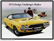 1974 Dodge Challenger Rallye Auto Refrigerator / Tool Box Magnet Gift Item