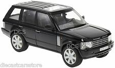 WELLY 2003 LAND ROVER RANGE ROVER BLACK 1/24 DIECAST CAR 22415W-BK