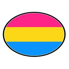 Pansexual Pride Auto or Truck Magnet Euro Design