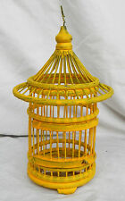 Piccolo giallo hand made in bambù e legno asiatico Bird Cage-IMPIANTO Container / DECOR