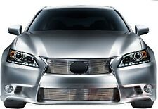 FITS LEXUS GS350 2013 2014 STAINLESS STEEL CHROME BILLET GRILLE TOP & BOTTOM