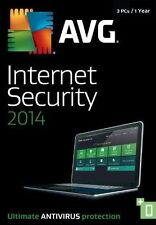 AVG Internet Security 2014 3 PCs 1 Year +PC TuneUp Ultimate Antivirus Protection