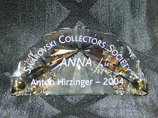 Swarovski Collector's Society 2004 Title Plaque – Anna with box Artist Signed