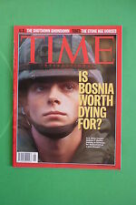 TIME rivista magazine NOVEMBER 27 1995 IS BOSNIA WORTH DYNG FOR ? TIBET