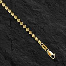 "14k Yellow Gold BEAD BALL Link Pendant Chain Necklace 3 mm 20"" 14 grams  BD3N"