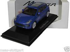 2015 Porsche Macan turbo zafiro azul-WELLY 1:43 - map01995015-fabricacion nueva