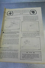 Used 1981 Arctic Cat Jag Setup & Pre-Delivery Instructions Manual 0726-412