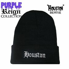"PURPLE REIGN APPAREL ""HOUSTON"" BEANIE texans supeme obey hundreds diamond come"