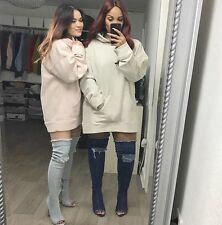 ULTRA RARE! ZARA OVERSIZE NUDE HOODED SWEAT TOP! SOLD OUT! BLOGGERS FAVE