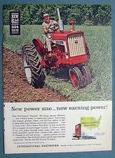 Original 1962 45 HP  Farmall Tractor Ad Featuring the F 504  NEW EARNING POWER