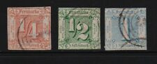 Germany - Thurn & Taxis #8-10 used, cat. $ 207.50